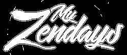 My Zendays Script Logo - White